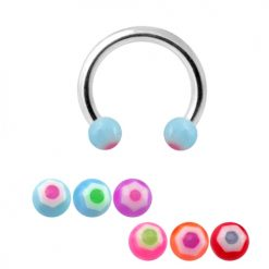 316L Surgical Steel CBB With UV Balls Mix Color