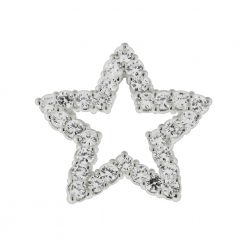 925 Sterling Silver Jeweled Star Pendant