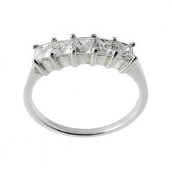Crown CZ Jeweled Fashion Silver Ring