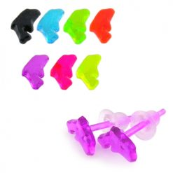 UV React Acrylic Baby Dolphin Ear Stud Pack