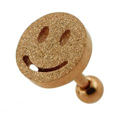 PVD Plated Glittering smiley Tragus Piercing-0