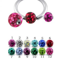 Multi Crystals with Epoxy Cover BCR Dimple stone Ball