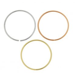 9K Gold 10 mm Seamless Continuous Nose Hoop Ring in Box-0