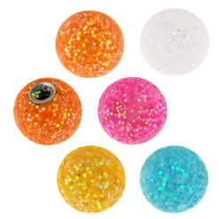 14 Gauge 6 mm Colorful Glitter Balls-0